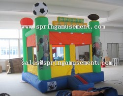 inflatable mini nylon bouncer with football, family bouncer SP-MB032