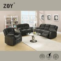 2015 modern design leather recliner furniture living room sofa set 3 2 1