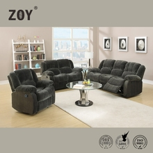 2015 modern design leather recliner furniture living room sofa set 3 2 1