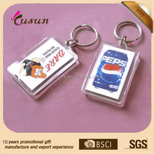 best selling Cheap customize promotion round clear acrylic photo keychain