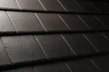 PVC black roof shingle for decoration
