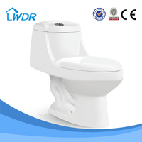 chaozhou bathroom sanitary items ivory color ceramic one piece siphon flushing 3inch wc toilet price
