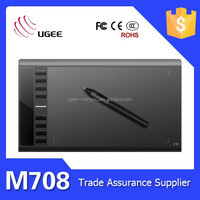 Ugee M708 10x6 inches 2048 levels 5080lpi digital drawing board graphic tablet