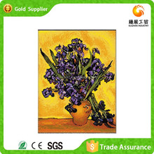 Grade1 wall Art Bright Plastic Diamond Embroidery Purple Flower Oil Painting