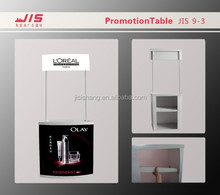 ABS board Alumnium pole promotion table ,Folded Promotor JIS 9-3