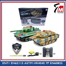 Military toy vehicle 1:32 scale 12 functions with light shooting sound plastic 2.4G battle tank toy rc tank