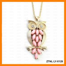 collar colgante de diamantes de imitación del recorte del búho ZTNL LY-X129