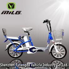 """16"""" inch city mini two seat electric bike, 2 seat electric bike, double seat electric bike"""