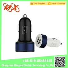 Car Power 2 Port double dual USB Adapter Charger 12V/24V Cigarette Lighter Socket Digital Voltmeter Outlet For Phone IPod