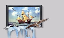 Fast Delivery New Item Hand Painted 3d Mural Painting On Canvas
