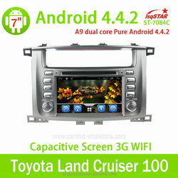 Support mirror link/OBD/TPMS Android 4.4 Car DVD gps with 3G Wifi radio BT for Toyota LAND CRUISER LC100
