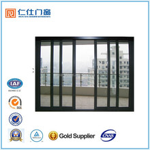Renshi brand high quality aluminum apartment exterior door with SGS certification