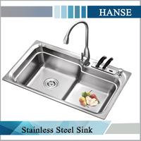 K-8246 rectangular fiber undermount double bowl kitchen sink