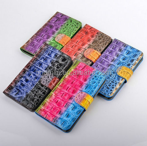 Alligator Pattern PU Leather Case for Samsung S5