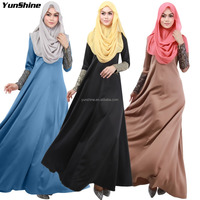 Hot Sale High Quality Turkish Women Clothing Fashion Arab Thoubs Islamic Muslim Abaya Long Sleeve Muslim Evening Dress