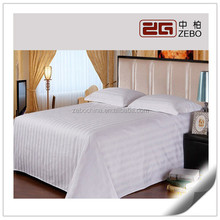 100% Cotton Stripe Fabric Customized Color Cheap Hotel Living Sheets