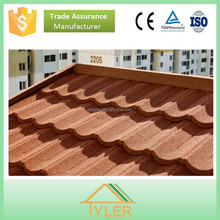 Red/Grey/Brown/Blue/Green Galvanized sheet metal roofing tile