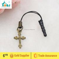 Cheap cross phone anti dust plug