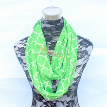 hot in USA inventory quatrefoil girl cotton infinity scarf wholesale total 15 colors delivery within 3 days