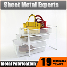 Durable DIY storage furniture metal mesh chest of drawers