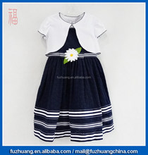 children clothing girls dress sleeveless dress & shawl 002