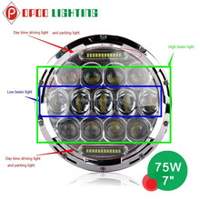 """New Auto Spare Accessories 7"""" Led Headlight, 75W 4x4 Offroad 7"""" Led Headlight"""