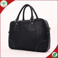 2015 black leather portfolio business bags for man