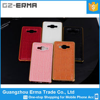 New Aluminum Bumper Metal Case with Leather Back Cover for Samsung Galaxy A3
