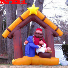 NB-CM-3024 Popular Customized inflatable christmas family for wedding