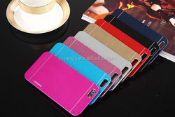 Fashion Back Hard Brushed Metal Cover motomo cover for iphone 6 china suppliers