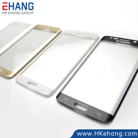 2015 Newest 3D Hot Curved Tempered Glass Screen Protector for Samsung Galaxy S6 Edge