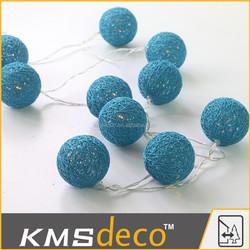 Colored led christmas ball string cotton ball decoration lights
