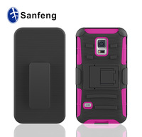 Manufacturer new design for sumsang s5 mini cellphone case cover; hot selling supper hybird cellphone case shell for s5 mini