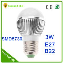 Productos más vendidos estilos SMD5730 AC85 ~ 265 3W ahorro de energía bombillas