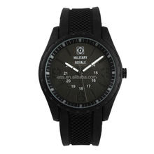 Military Royale Men's 24 Hours Military Time Black Rubber Strap Best Military Watch MR073