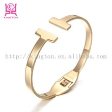 top quality symmetrical stainless steel bangle for girl