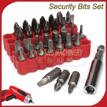 33pc PROFESSIONAL SECURITY BIT SET Tamper Proof Torx Wholesale Hand Tools