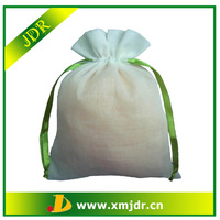 Promotion Custom Cotton Recycleable Drawstring Bag