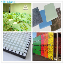 12mm glazed glass for decoration, stained decorative glass