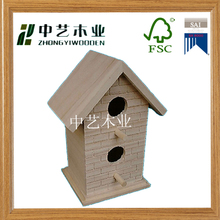 Best sell outdoor decorative cute wooden bird cage/wooden bird house