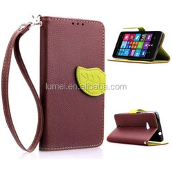 NEW 2015 Fashion Luxury Wallet Card Slot Flip Stand Leather Case Cover For Nokia Lumia 630