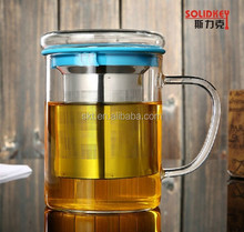 380ml borosilicate glass tea cup with infuser /hot sale glass tea cups