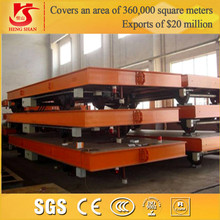 Overseas Service Rail Flat Freight Wagon With Electric Power