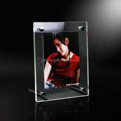 Beautiful design cheap acrylic picture frames 5x7 acrylic frameless picture frame with screw