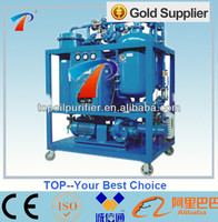 No secondary pollution used turbine oil treatment system remove emulsified water,dewatering,filtering