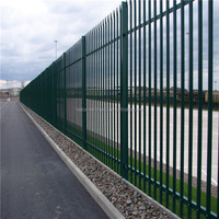 High Quality palisade /palisade fence /3m high W-section black triple pointed palisade FENCE( 20 years professional factory)