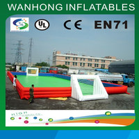 Customized giant inflatable football field playground/outdoor bubble inflatable soccer field