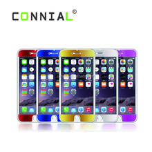 Screen Protector Colored Tempered Glass Guard Film for iPhone 6,Front and Back set Mirror Glass Screen Protector for iphone 6+,