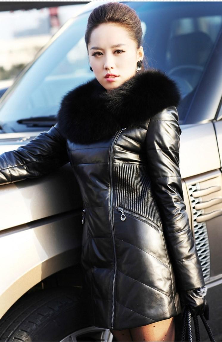 Зимняя Женская Кожаные Куртки Купить