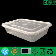 Fast food packaging box/ takeaway plastic container 500ml